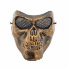 Cosplay Party Corpse Whole Face Style Mask - Bronze + Black