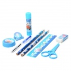 Cute Patterned Stationery Set for Children - Blue + Multicolored
