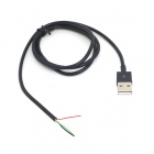 CY U2-303-BK USB 2.0 Male to 4 Wires Cable for DIY - Black (70cm)