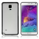 DF-033 Protective TPU + PC Back Case for Samsung Galaxy Note 4 N9100 - Translucent Black