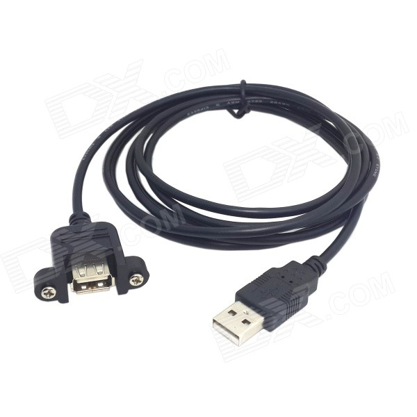 CY U2-020-2.0M USB 2.0 A Type Male to Female Extension Cable w/ Screws