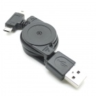 CY U2-307-BK USB 2.0 to Micro + Mini USB Charge Cable - Black