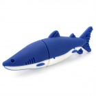 Dolphin Style USB 2.0 Flash Drive - Blue + White (64GB)