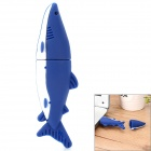 Shark Style USB 2.0 Flash Disk Drive - Blue + White (4GB)