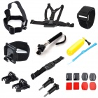 TOZ 8-in-1 Accessory Kits Chest Harness Mount with Buckle for GoPro Hero4/3+/3/ SJ4000
