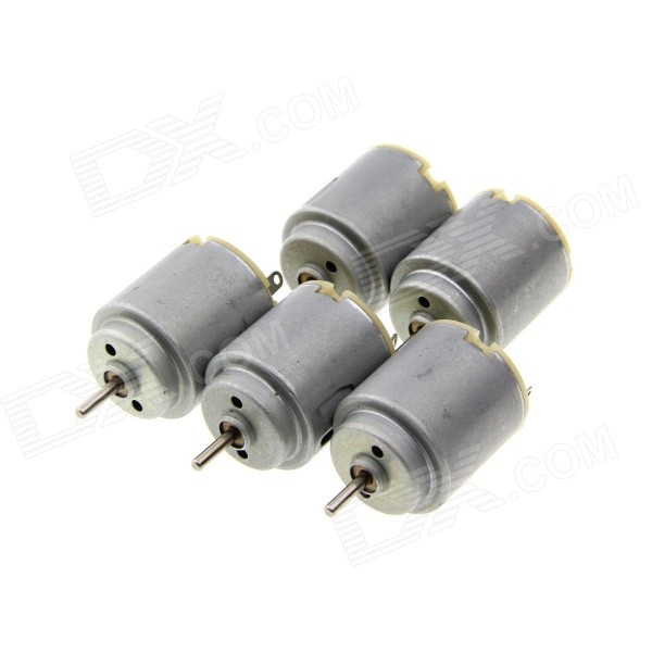 15000rpm Motor for Egg Beater, Model Toy - Gray (5 PCS)