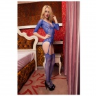 See-Through Conjoined Sexy Lingerie - Blue