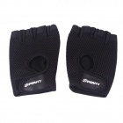 POVIT Protective Breathable Fingerless Fitness Gym Sports Glove - Black (Pair)