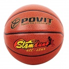 POVIT PE-4295 Wearable-Rindleder + PU-Leder-Basketball - Orange (Größe 7)