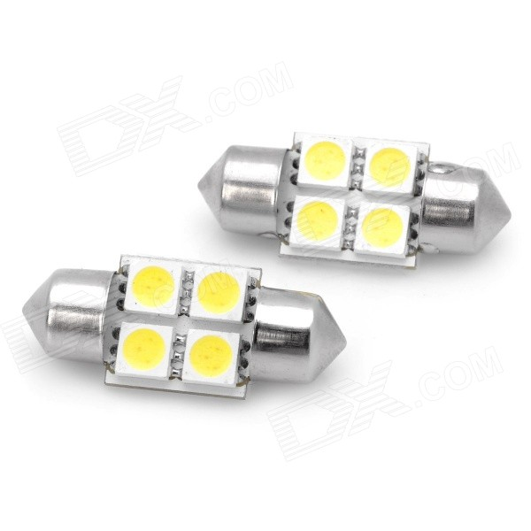 Festoon 31mm 2W 6500K 125lm SMD 5050 White Car Lamp (2PCS)