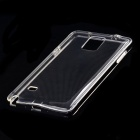 Aluminum Alloy + TPU Back Case for Samsung Note4 - Black + Transparent