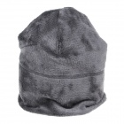 Outdoor Skiing Cycling Riding Polar Fleece Warm-Keeping Hat - Grey