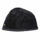 Outdoor Skiing Cycling Riding Polar Fleece Warm-Keeping Hat - Black