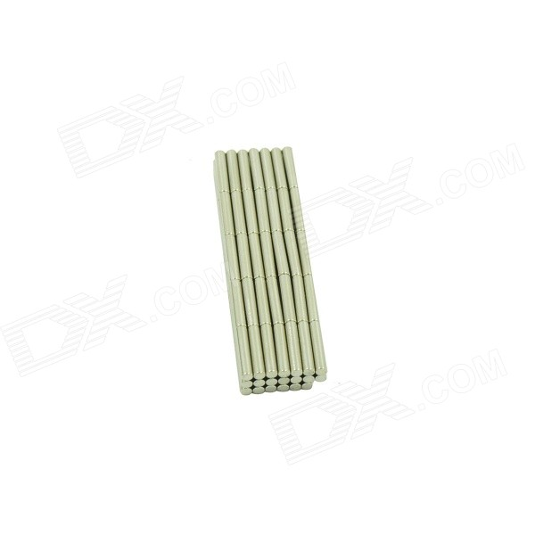 Cylindrical NdFeB Magnet - Silver (2*10mm / 100PCS)