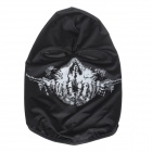 Skull Printing UV Protection Reflective Hyper-Elastic CS Tactical Face Mask Headwear - Black + White