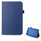 Protective Flip-Open PU Leather Case w/ Holder + Auto Sleep for Acer Iconia One 8 (B1-810) - Blue