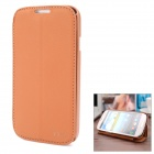 Protective Flip-open PU + TPU Case for Samsung S4 i9500 / i9508 - Brown