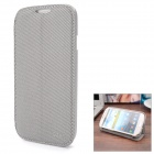 Protective Flip-Open PU + TPU-Hülle für Samsung i9500 S4 / i9508 - Gray