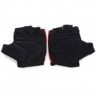 NUCKILY PC03 Men's Half-Finger Cycling Gloves - Red + Black (XL)