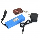 DC 12V 4000mAh Li-ion Battery w/ Remote Controller - Blue