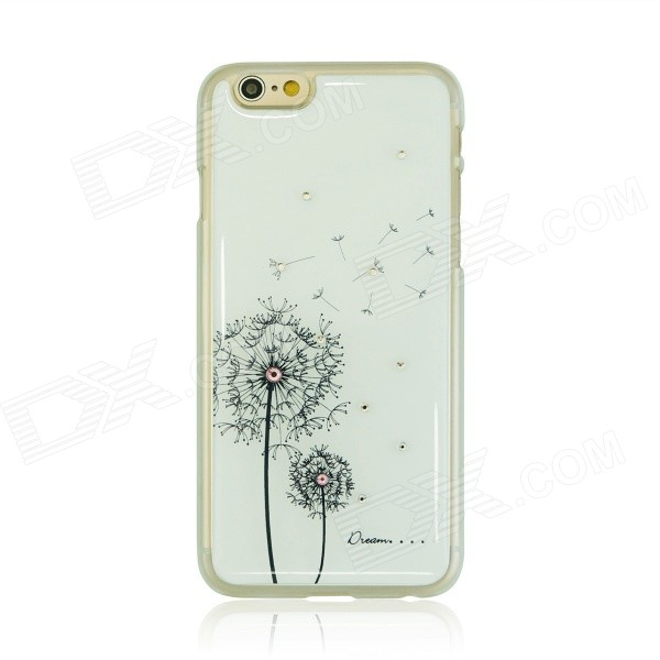 Dandelion Pattern Ultra-thin Shell for iphone 6 - White + Black