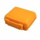 6-Compartment Sealing Outdoor Medicine Organizer Box Case - Transparent + Yellow