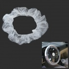 Disposable Plastic Dust-proof Water Resistant Steering Wheel  Cover for Car - Transparent (20 PCS)