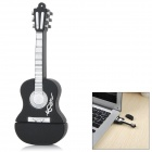 USB0210-2 Guitar Style USB 2.0 Flash Drive Disk - Black + White (8GB)