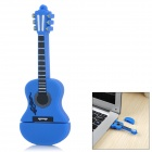 USB0210-2 Guitar Style USB 2.0 Flash Drive Disk - Blue + Black (8GB)