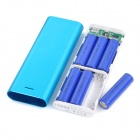 Solder-Free Replaceable 6 x 18650 13200mAh Mobile Power Bank - Blue