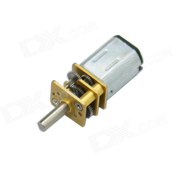 DC 12V 155RPM 12mm Precision Low Noise Gear Motor - Silver