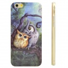 Owls Pattern Protective TPU Back Case for IPHONE 6 - Blue + Yellow + Multicolored