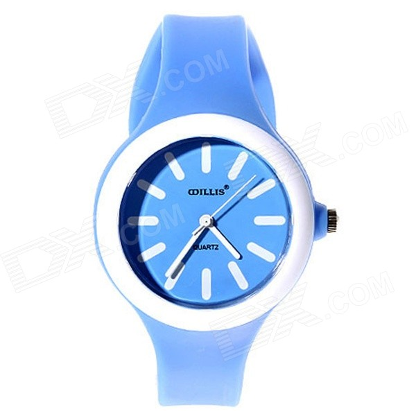 Willis 5477 Women's Silicone Band Analog Quartz Watch - Blue