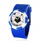 5175 Football Style Plastic Case Resin Band Quartz Analog Wrist Watch for Kids - Blue (1 x 626)