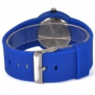 5175 Football Plastic Case Resin Band Quartz Analog Kids Watch - Blue