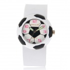 5175 Football Style Plastic Case Resin Band Quartz Analog Wrist Watch for Kids - White (1 x 626)