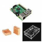 3-in-1 Raspberry Pi 2 Model B & Acrylic Shell & Copper Heat Sinks Set - Green