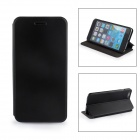Durable Protective Flip-Open PU Leather Case w/ Stand for IPHONE 6 PLUS - Black