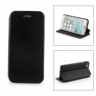 Durable Protective Flip Open PU Leather Case for IPHONE 6 - Black