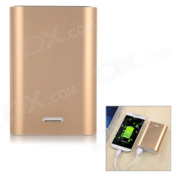 Solder-Free Replaceable 3*18650 7200mAh Mobile Power Bank - Golden