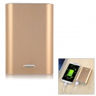 Solder-Free Replaceable 3 x 18650 7200mAh Mobile Power Bank - Golden