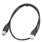 CHEERLINK Male-to-Male AM / BM USB 3.0 Cable - Black (60cm)