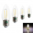 Zweihnder E27 2W LED Filament Candle Bulbs White Light 6000K 180lm (AC 220~240V / 4 PCS)