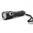 MANKER TORCH CLUB 1-LED 5-Mode 900lm White Flashlight w/ Strap - Black (1 x 18650 / 2 x RCR123)