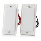 ZEA15-2-6-3 Pickups w/ Cable for LP Electric Guitar - White (Pair)