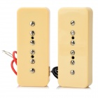 ZEA15-2-6-1 Electric Guitar Pickups w/ Cable - Light Yellow (Pair)