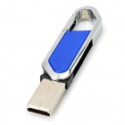 Blade Cutter Style USB 2.0 Flash Drive - Blue + Silver (32GB)