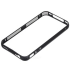 Durable Protective Aluminum Alloy Bumper Frame for IPHONE 4/4S - Black