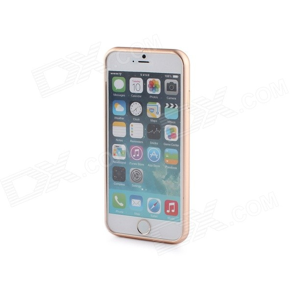 Durable Protective Aluminum Alloy Bumper Frame for IPHONE 6 - GoldenMetal Cases<br>Form ColorGoldenQuantity1 DX.PCM.Model.AttributeModel.UnitMaterialAluminium alloyCompatible ModelsIPHONE 6StyleBumper CasesPacking List1 x Bumper frame<br>