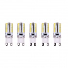 G9 4W 3000K 80-SMD 3014 LED lámpara blanca caliente (200 ~ 240V / 5PCS)